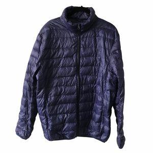 Navy Puffer Long Sleeve Jacket Large